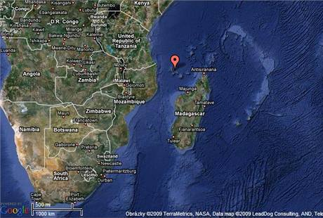 Mapa Komorských ostrovů