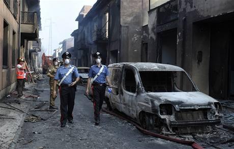 Výbuch cisteren s plynem v severoitalském Viareggiu zpustošil celé okolí
