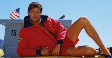 David Hasselhoff ve své nejslavnější roli v seriálu Pobřežní hlídka