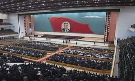 Slavnostní shromáždění u příležitosti 15. výročí smrti Kim Ir-sena (8. července 2009)