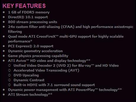 Klíčové vlastnosti XFX HD 4890 BE