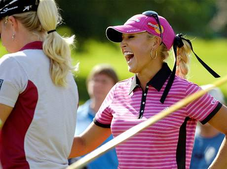 Natalie Gulbisová na Wegmans LPGA.