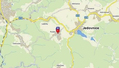 Mapa Rudice.