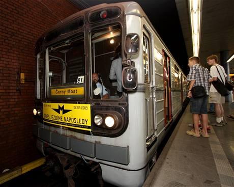 Poslední jízda sovětského metra v Praze 2. 7. 2009