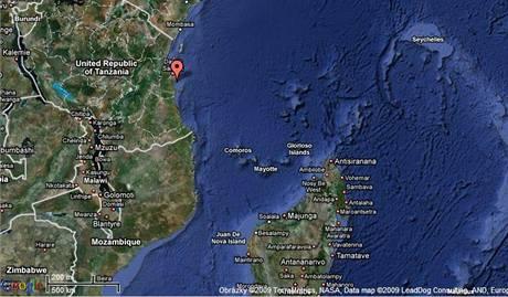 Ostrov Mafia u Tanzánie