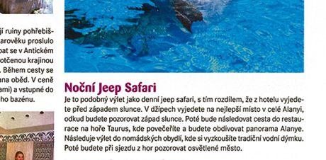 Katalog CK Blue Style, inzerce nočního jeep safari