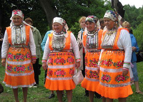 Republika Mari El v Rusku. Tradiční marijský kroj