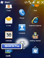 Windows Mobile 6.5 (menu)