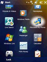 Windows Mobile 6.5 (Start menu)