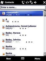 Windows Mobile 6.5 (adresář)