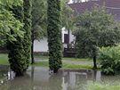 Rudice zasáhla přívalová bouřka,  v těchto místech stával rybník .