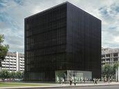 Černá kostka. Projekt Moravskoslezské vědecké knihovny v Ostravě; © Kuba, Pilař architekti, 2009