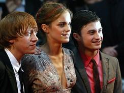 Premiéra šestého dílu Harryho Pottera v Londýně - Rupert Grint , Emma Watsonová a Daniel Radcliffe