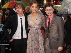 Ruppert Grint, Emma Watsonová a Daniel Radcliffe