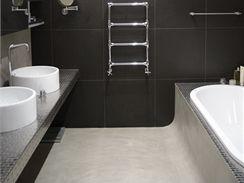 Koupelna majitelky pot�� milovn�ky modern�ho designu