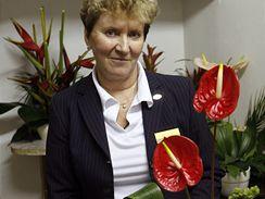 Floristka grandhotelu Pupp Eva Ebner-Brunnerová.