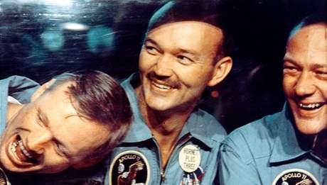 Posádka Apolla 11. Zleva Neil Armstrong, Michael Collins a Buzz Aldrin