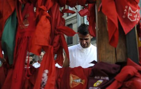 Vypouštění býků ve španělské Pamploně (11.7.2009)