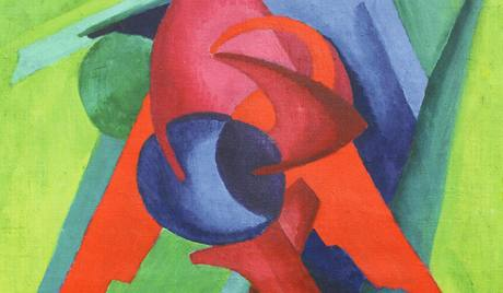 Z výstavy Barvy avantgardy: Hans Mattis-Teutsch,  Kompozice