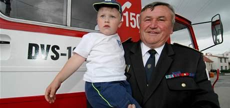 Josef Gargula s vnukem Šimonem Riedlem