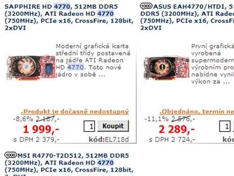 (ne)dostupnost Radeonu HD 4770
