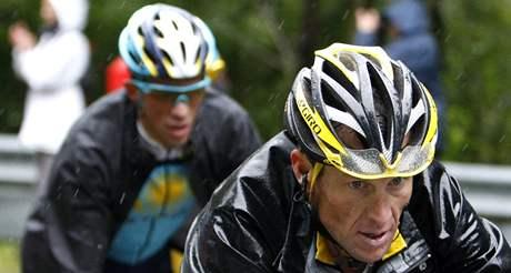 Lance Armstrong a Alberto Contador