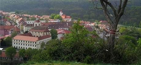 Pohled na Moravský Krumlov od svatého Floriána