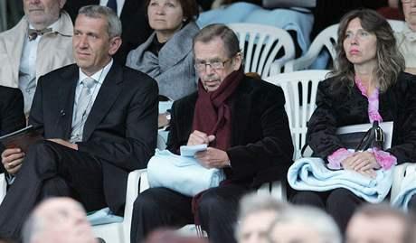 Václav Havel na koncertě Renée Flemingové v Krumlově