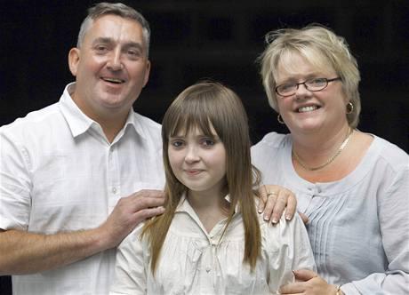 Hannah Clarková se svými rodiči