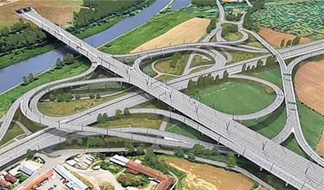 Nejsložitější křižovatka v Česku propojí u Lahovic pražský okruh a silnici do Strakonic.
