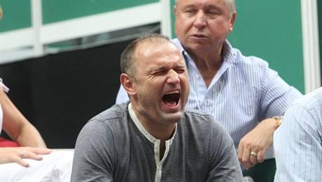 Ivan Langer při Davis Cupu v Ostravě