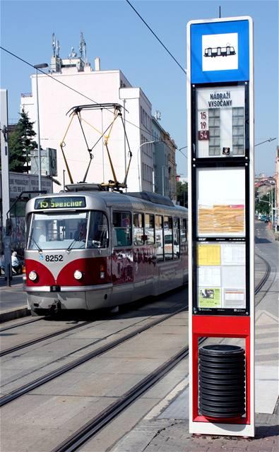 První digitální označník tramvajové zastávky