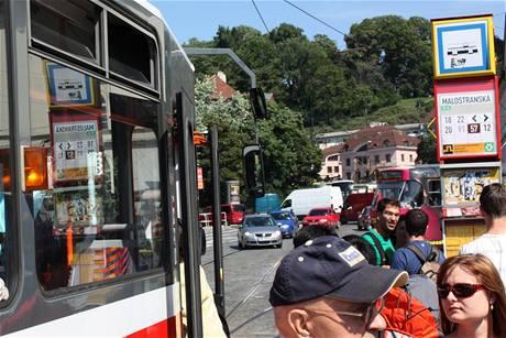 Stávající označník tramvajové zastávky