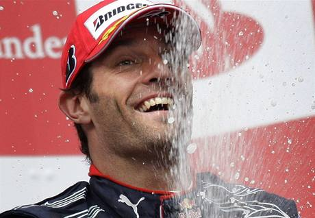 Mark Webber na nejvy&#237;m stup&#237;nku pi Velk&#233; cen Nmecka