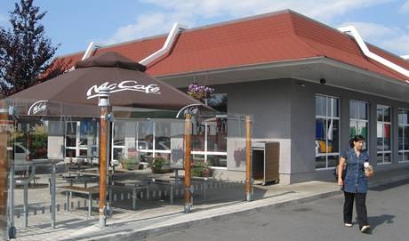První česká kavárna McCafé v Průhonicích.