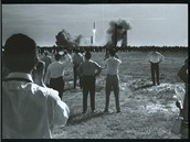 Apollo 11 - 3500 novin��� sleduje start lodi Apollo 11 k M�s�ci