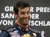 Mark Webber na nejvym stupnku pi Velk cen Nmecka