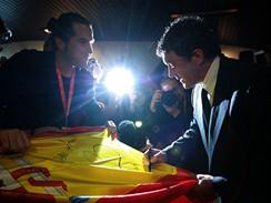 Herec Antonio Banderas při setkání s fanoušky