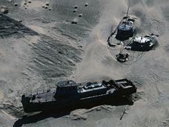 Aralské jezero: pohřebiště lodí