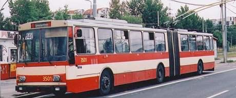 Historické trolejbusy v Brně - 15Tr02 3501