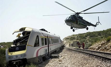 Vykolejený vlak poblíž chorvatského Splitu (24.7.2009)