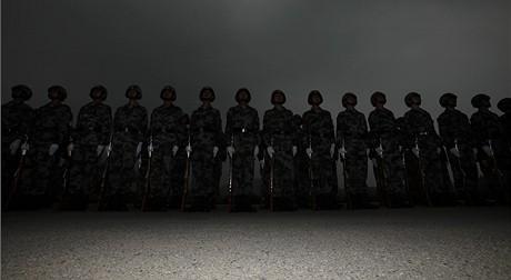 Veřejně přístupné cvičení čínské armády (29.7.2009)