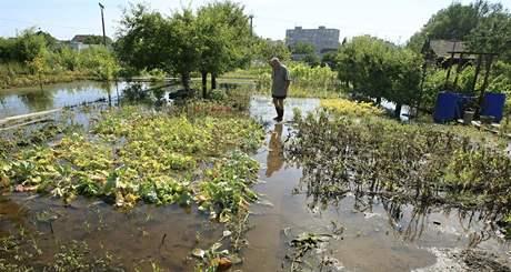 Zahrádkáři v Poštorné mají zahrady pod vodou. Zátopy se v Poštorné objevují od devadesátých let