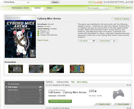 Xbox Indie Marketplace