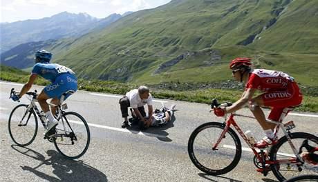 Jens Voigt po pádu na Tour de France