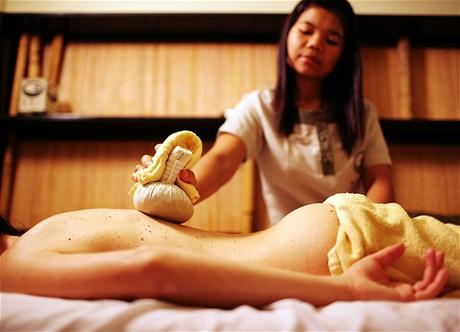 Asijská zdravotní masáž zad - razítka