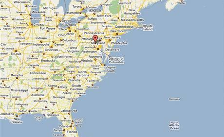 Mapa - Maryland