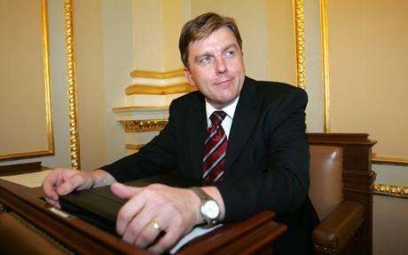 Předseda Poslanecké sněmovny Miloslav Vlček (ČSSD)