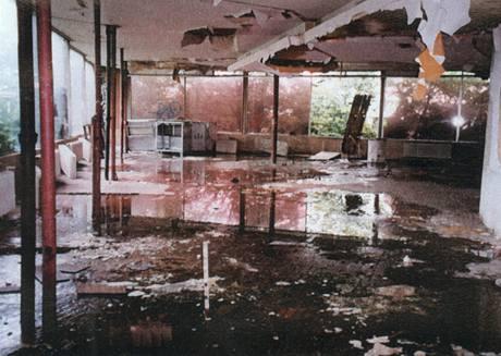 Budova restaurace byla v dezolátním stavu