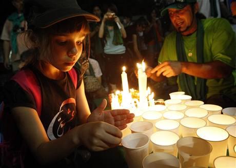 Den solidarity s íránskými vězni v japonském Tokiu (25. července 2009)